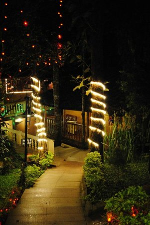 Thekkady - Woods n Spice, A Sterling Holidays Resort : Lighting during Chritsmas