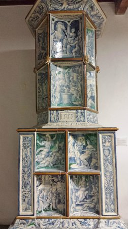Germanisches Nationalmuseum: Tiled fireplace dated 1555