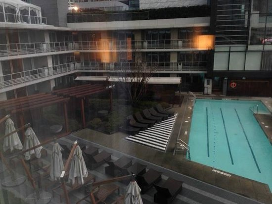 Fairmont Pacific Rim : Pool View from 8th floor