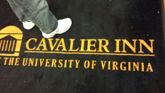 Cavalier Inn at the University of Virginia: Welcome mat!