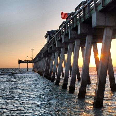 Venice Fishing Pier: sunset
