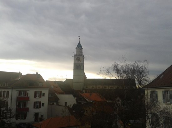 Überlingen, Alemania: Blick aus dem 3. Stock