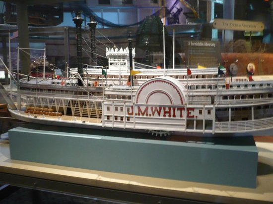 Capitol Park Museum: JM White is the name of the dining room on the American Queen Steamboat