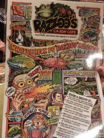 Razzoo's Cajun Cafe: Menu