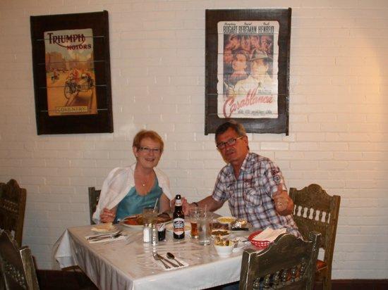 El Rancho Hotel Restaurant: notre table