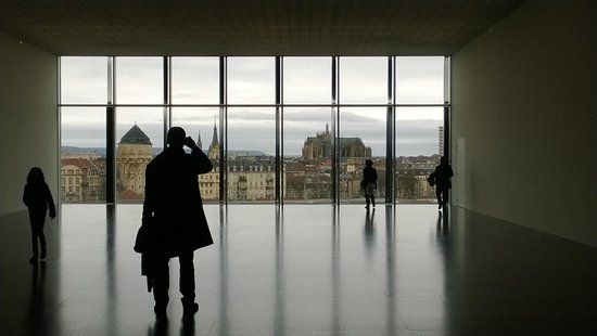 Centre Pompidou-Metz : View toward the town from 4th floor