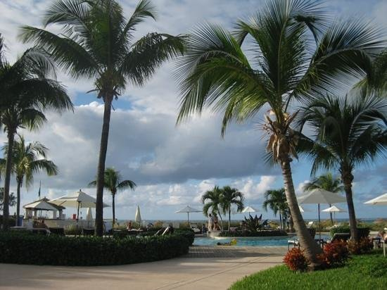 Sands at Grace Bay: pool area by the beach