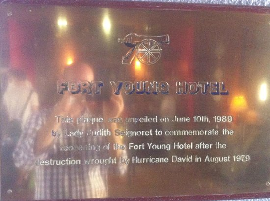 Fort Young Hotel: Placa