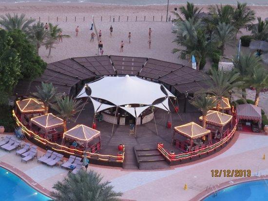 Le Meridien Al Aqah Beach Resort : View from the hotel room