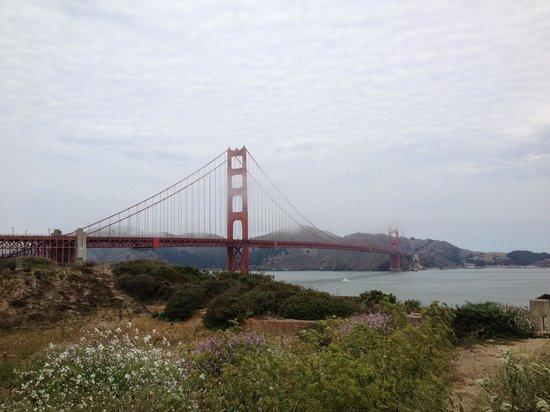 Blazing Saddles Bike Rentals and Tours: Golden Gate Bridge view