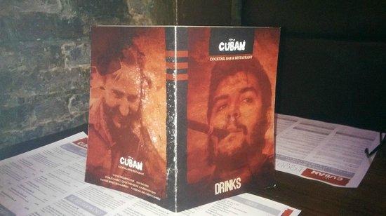 The Cuban - Camden: menú