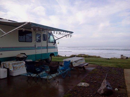 Sea Perch RV Resort : Ocean Front Space #9