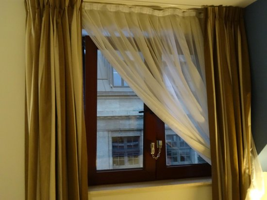 Scandic Hotel Grand Place: Room with NO view !  But still a superior room according to the hotel !