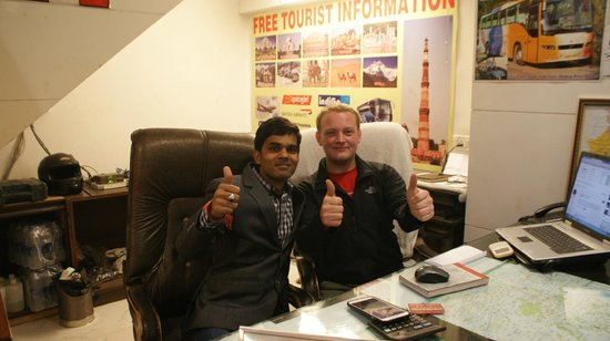 Hotel Shelton: me and owner Vijay