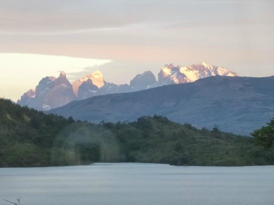 Patagonia Camp: View from our yurt #12 of Torro Lake and Torres del Paine
