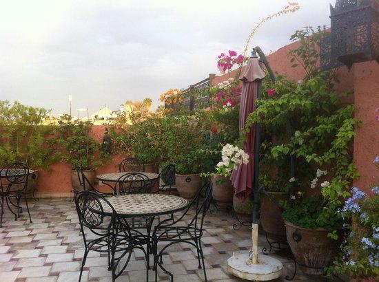 Riad Nesma : The lovely roof terrace