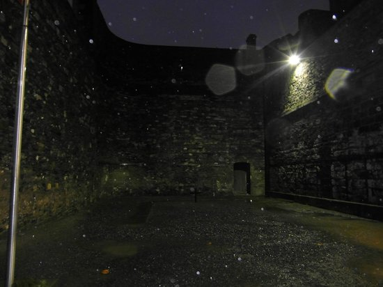 Kilmainham Gaol: Execution spot marked with a cross