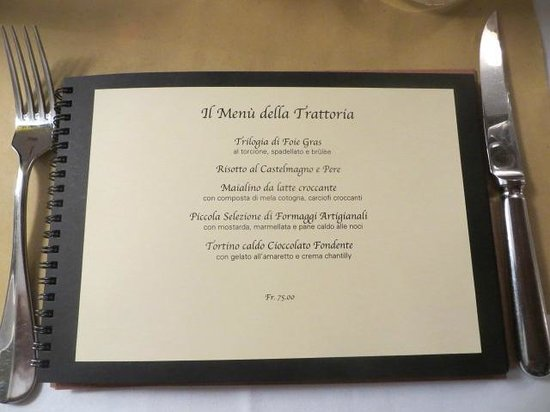 La Trattoria : Das köstliche Abend-Menue