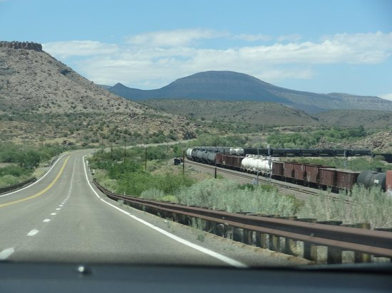 Route 66 between Walapai and Truxton, July 2013