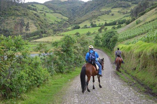 Casa Mojanda: Horseback ride up the mountain
