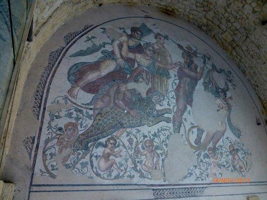 Villa Romana del Casale: Fantastisk mosaikk arbeide.