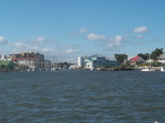 Sea Sports Belize : View of Belize City as we left the dock