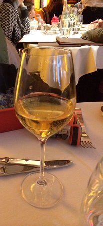 The Mark Restaurant by Jean Georges : USD 8 glass of apple juice served to a 9 year old out of a wine glass. Poor standards unfortunat