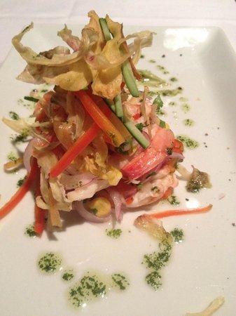 BoBo Hotel: shrimp ceviche -- best thing on the menu!
