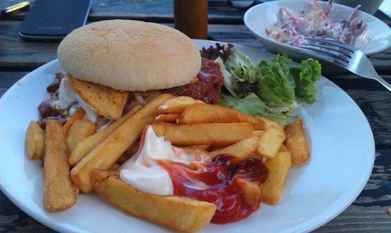 Whitehills: Burger July 2013 Eating Outside