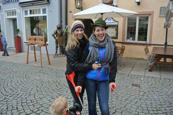 Altstadt von Fuessen: Goofing around in Fussen