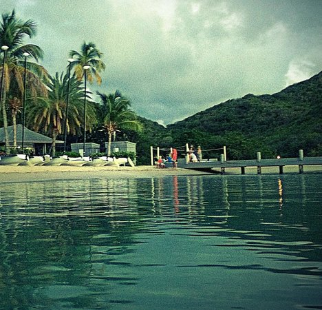 Carlisle Bay Antigua : View from the water at the Carlisle Bay resort, Antigua