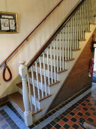 Father Miguel O'Reilly House Museum: Stairwell, original to British period.