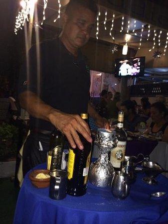 Eddie's Place Nopal Beach: Flaming Coffee