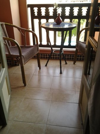 Diwane Hotel: le balcon de la chambre