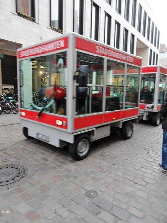 Prinzipalmarkt: Een ritje me het treintje .