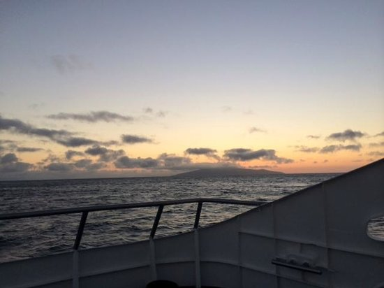 Galapagos Experience : Sunset view from the top of the boat.