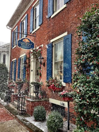 Copper Beech Manor Bed and Breakfast: Snow on Christmas Eve