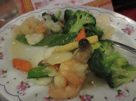 Fon Shan Chinese Restaurant: Shrimp and Scallops