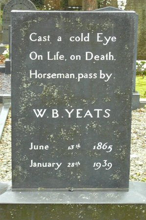 Drumcliffe Church: Close-up of  W. B. Yeats grave