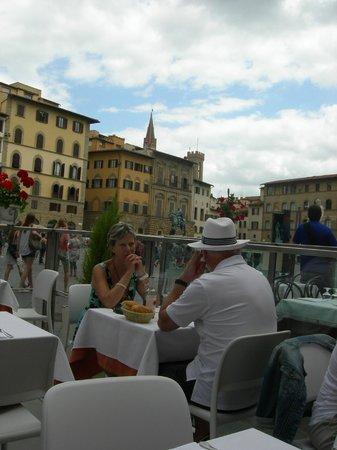 Il Bargello: tavoli all'aperto del Bargello