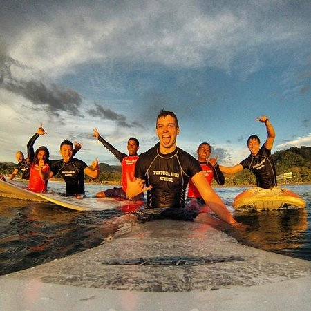 Tortuga Surf School: Sunset Surfing!