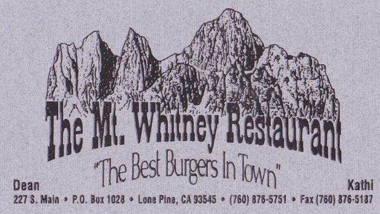 Mt. Whitney Restaurant: Mt Whitney Restaurant - Lone Pine