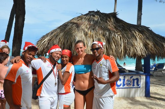 Vista Sol Punta Cana : Part of our animation team : Givenchi, Francisco, Maria and Hanskey