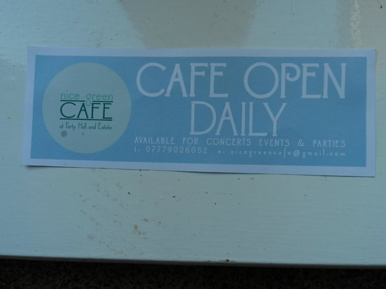 Nice Green Cafe: Open daily 10am till 5pm
