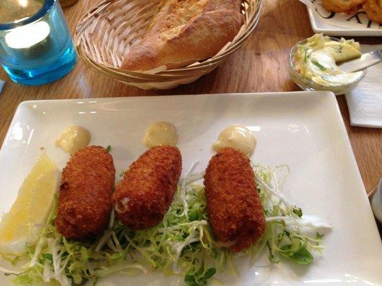 The Seafood Bar : Shrimp croquettes