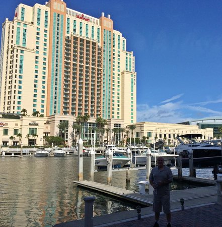 view from across the water picture of tampa marriott. Black Bedroom Furniture Sets. Home Design Ideas