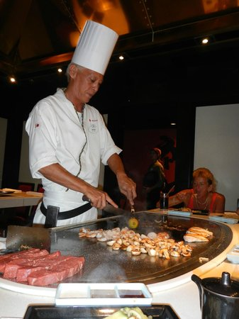Teppan Edo: Food preparation