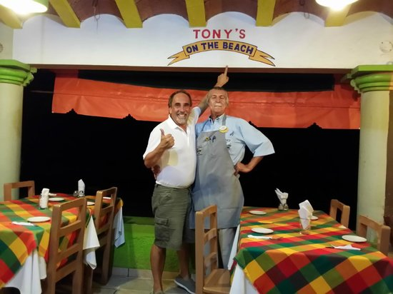 """Tony's on the Beach : My husband with Uncle """"Tia"""""""