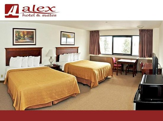 Alex Hotel & Suites: Double Queen, pillow top mattresses