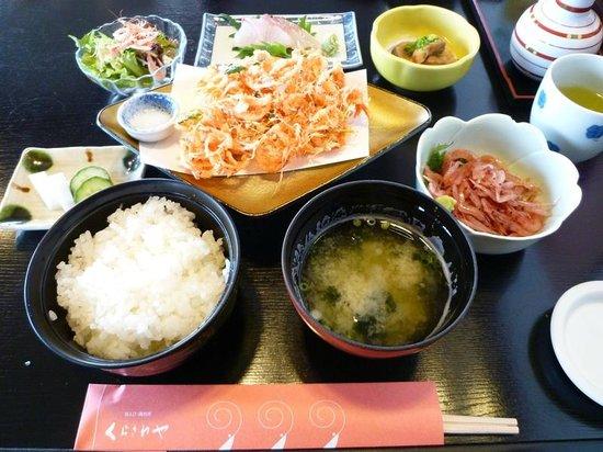 Kurasawaya: いただいた桜エビづくしのミニ御膳